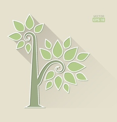 Abstract Tree on brown background vector image