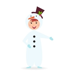 Cute kid wearing Christmas costume vector image vector image