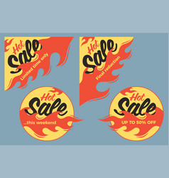 hot sale price offer deal labels stickers circle vector image