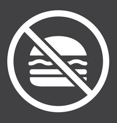 no fastfood glyph icon fitness and sport vector image vector image
