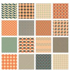 simple geometric patterns vector image