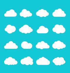 sky cloud icon set vector image