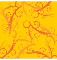 yellow square background vector image