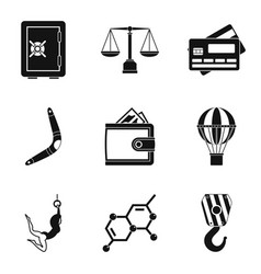 Equilibrium icons set simple style vector