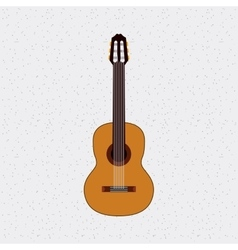 guitar instrument musical isolated icon vector image vector image