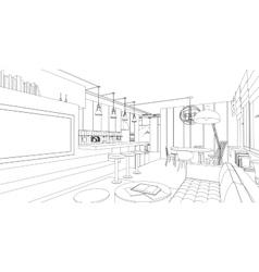 Interior drawing vector image