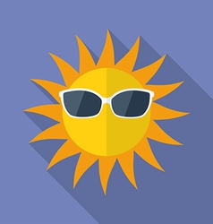 Sun with glasses icon Modern Flat style with a vector image vector image