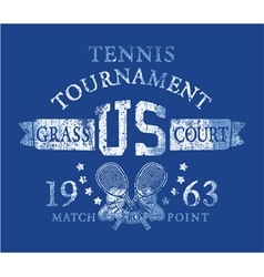 Tennis tournament vector image vector image
