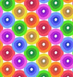 Abstract flower background in shades of rainbow vector