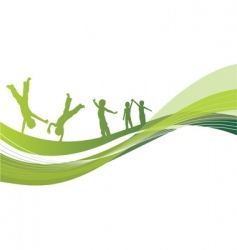 children woodland vector image