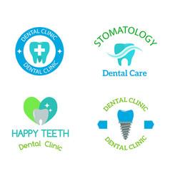 dental stomatology clinic badge icon vector image vector image