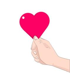 hand heart vector image vector image
