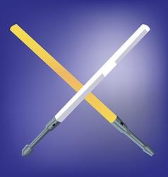 Light Beam Laser Swords vector image