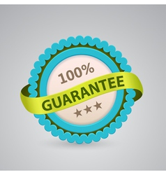 single label of 100 guarantee vector image vector image
