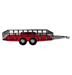 dump trailer cargo transport shipping vector image