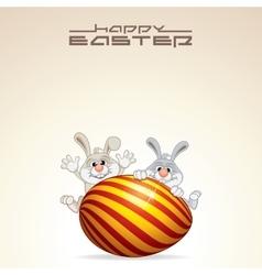Easter Card Design vector image