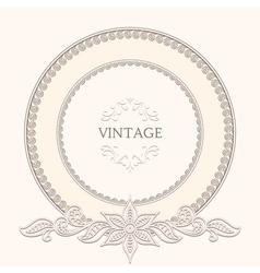 Vintage round frame vector image vector image