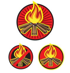 wood fire vector image vector image