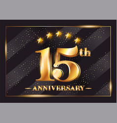 15 years anniversary celebration logo 15th vector image