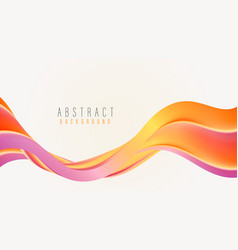 abstract shape in rainbow colors flows wave vector image