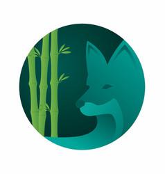 Abstract wolf logo design vector