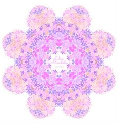 Amazing mandala of lilac flowers vector image