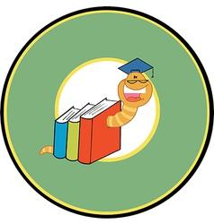 Back to school logo cartoon vector