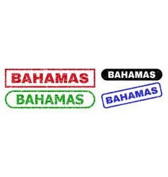 Bahamas rectangle stamp seals with distress vector