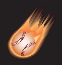 baseball-fire vector image