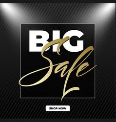 big sale lettering the design of the inscription vector image