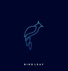 bird leaf template vector image