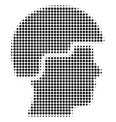 Black dotted soldier helmet icon vector