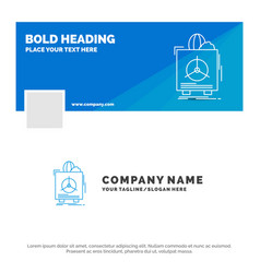 blue business logo template for insurance fragile vector image
