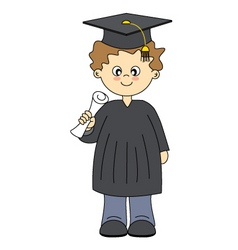 Boy graduation vector