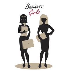 Business woman silhouette-04 vector