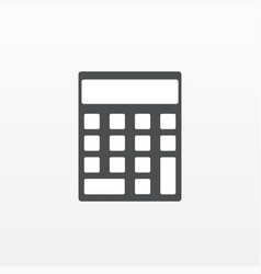 calculator icon flat symbol isolated on wh vector image