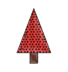 christmas tree cartoon vector image