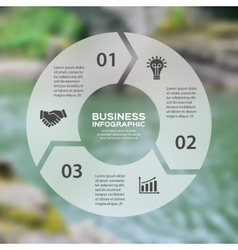 Circle arrows linear infographic Template vector