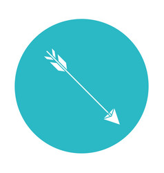 Circle light blue with hunting arrow vector
