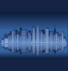 cityscape silhouette with skyscrapers vector image