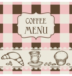 Coffee and cakes menu vector