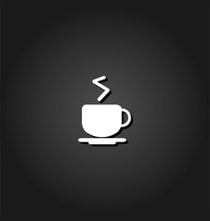 Coffee cup icon flat vector