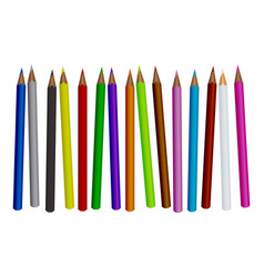 Colored pencil set isolated vector