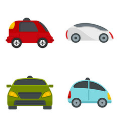 Driverless icon set flat style vector