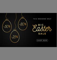 easter egg horizontal banner easter card vector image