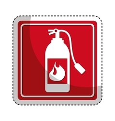 extinguisher fire isolated icon vector image vector image