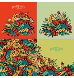 fancy flowers vector image