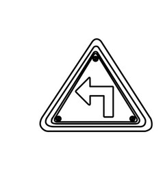 Figure metal emblem warning sign icon vector