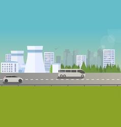 Flat urban landscape vector