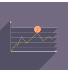 Flat web icon with long shadow financial vector